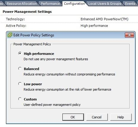 Expert SQL Server - Power Options : Surconsommation du CPU d'une instance SQL Server - SQL Server  - vmware_poweroption