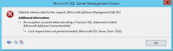 Expert SQL Server - Mode de secours SQL Server (DAC) - SQL Server  - lock_request-timeout