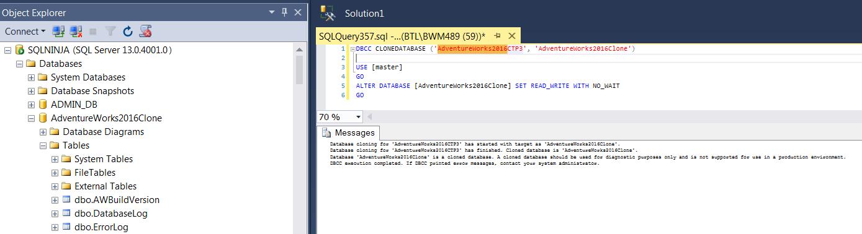 Expert SQL Server - Scripter la création d'une base données - Powershell SQL Server  - bdd_clone