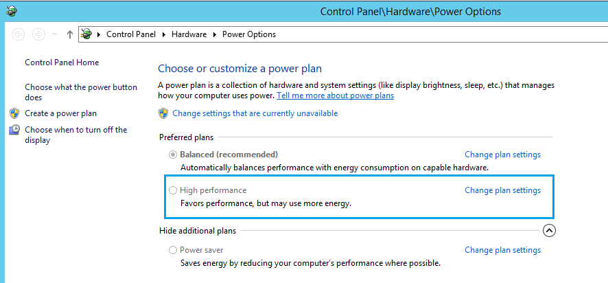 Expert SQL Server - Power Options : Surconsommation du CPU d'une instance SQL Server - SQL Server  - power_option