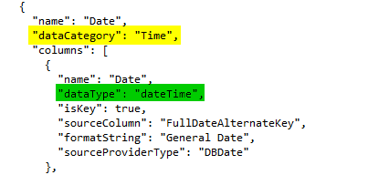 Expert SQL Server - Timeline Excel : We can't create timeline because report doesnt have field formatted as Date - BI & Big Data  - Json_dataCategory_Time