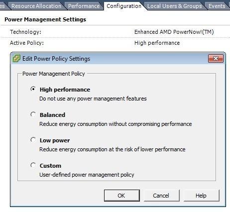 Expert SQL Server - Power Options : Surconsommation du CPU d'une instance SQL Server - SQL Server  - vmware_poweroption