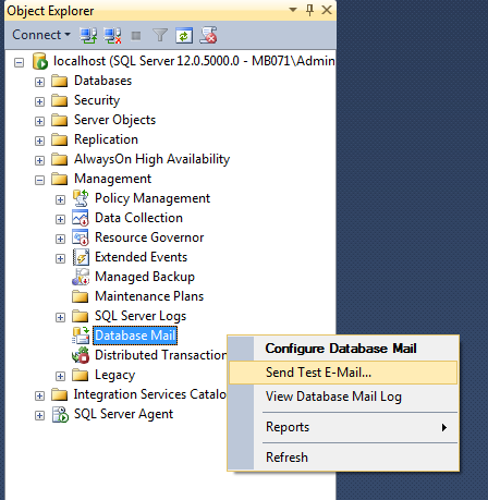 Expert SQL Server - Configurer Database Mail avec Gmail - SQL Server  - Database-Mail-09