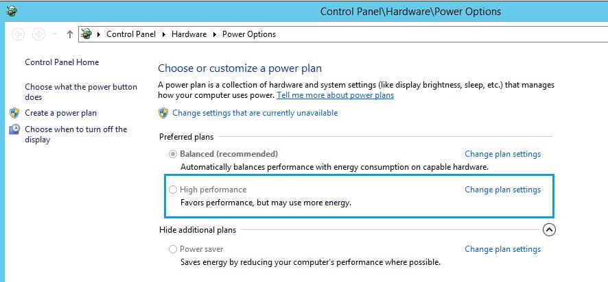 Expert SQL Server - Power Options : Surconsommation du CPU d'une instance SQL Server - SQL Server  - power_option