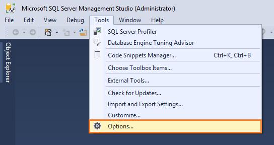 Expert SQL Server - Retain CR/LF : Retours chariot et sauts de ligne dans SQL Management Studio 2016 - SQL Server  - tool_options