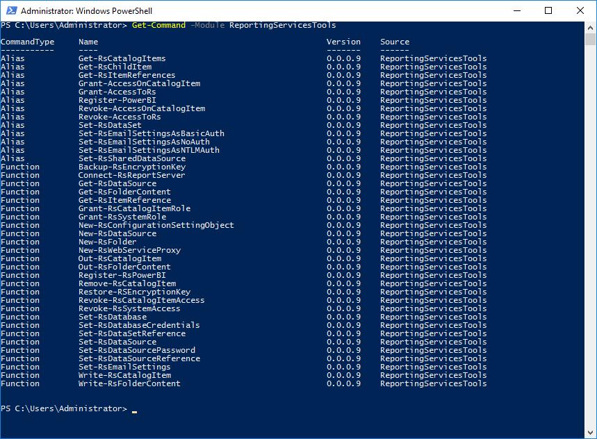 Expert SQL Server - Industrialisation Reporting Services - BI & Big Data  - 03-get_command