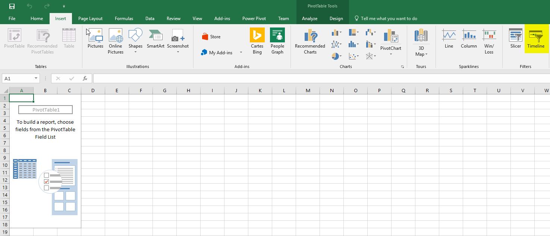 Expert SQL Server - Timeline Excel : We can't create timeline because report doesnt have field formatted as Date - BI & Big Data  - excel_insert_timeline